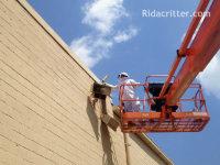 Man on a platform lift doing a beed control job in Birmingham, Alabama