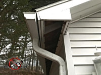 Missing soffit panel allowed animals into the attic of a house in Morgantown Georgia