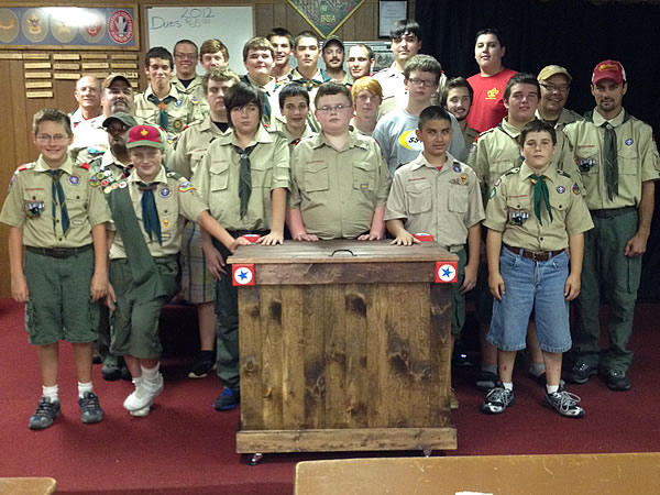 Group photo of Boy Scout Troop 77 of Griffin, Georgia