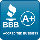 Better Business Bureau Accredited Business A+ Badge